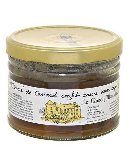 Mitonné de Canard Confit Sauce aux Cèpes