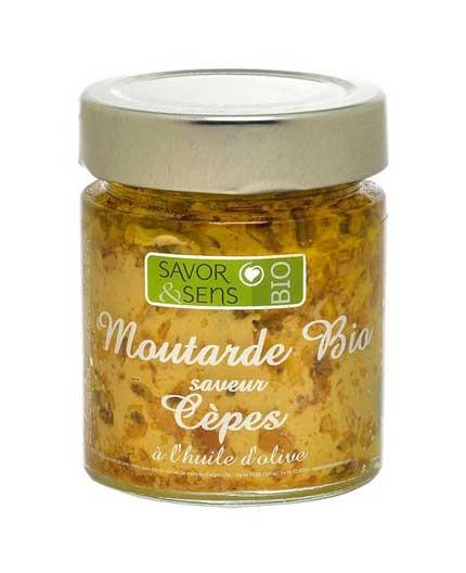 Moutarde Bio Cèpes à l'Huile d'Olive