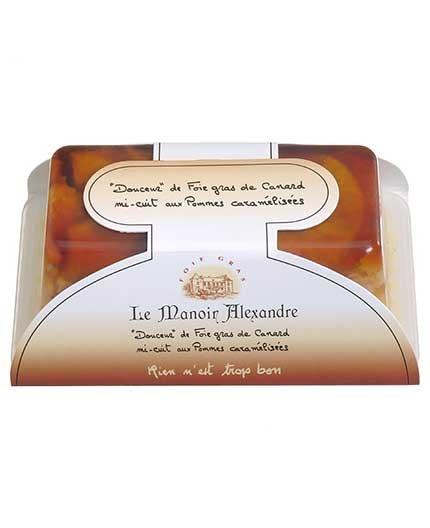"""""""Douceur"""" de Foie Gras de Canard Mi-Cuit aux Pommes Caramelisees """"Cuit en Terrine"""""""
