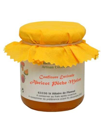 """Confiture """"Estivale"""" - Abricot - Pêche - Melon """"Cuisson au Chaudron de Cuivre à l'Air Libre"""""""