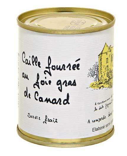 "Caille Fourrée au Foie Gras de Canard ""30% Foie Gras de Canard"""