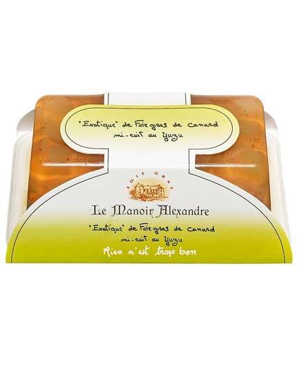 """«Exotique» de foie gras de canard mi-cuit au yuzu """"cuit en terrine"""""""