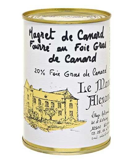 """Magret de Canard Fourré au Foie Gras Canard """"20% Foie Gras de Canard"""""""