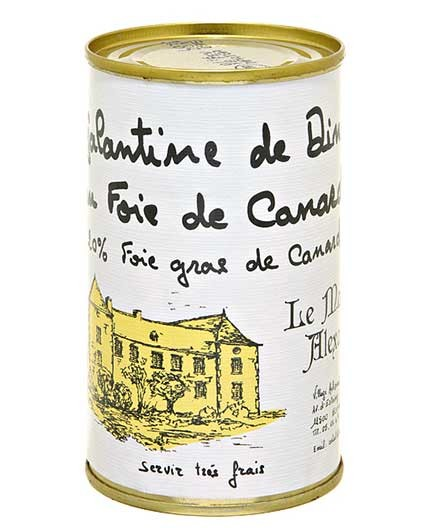 """Galantine de Dinde au Foie de Canard """"20% Foie Gras de Canard"""""""