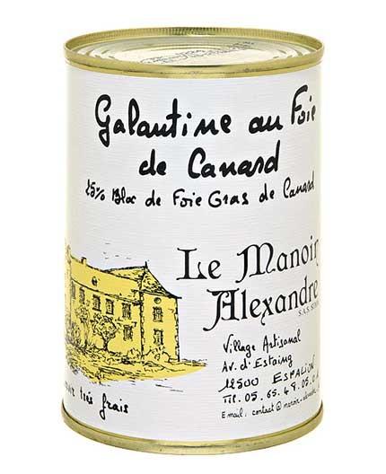 """Galantine au Foie de Canard """"25% Bloc de Foie Gras de Canard"""""""
