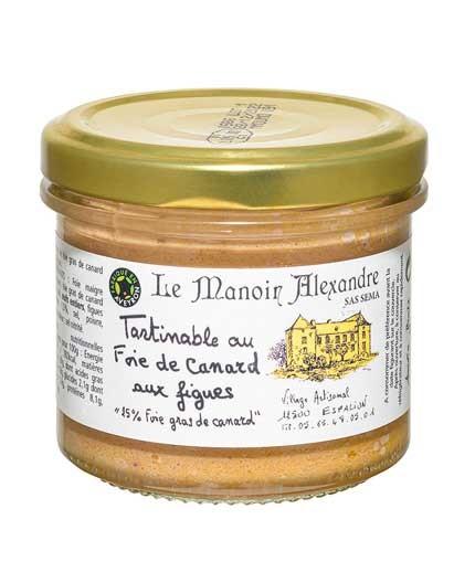 """Tartinable au Foie de Canard aux Figues """"25% Foie Gras de Canard"""""""