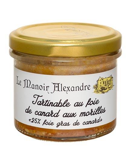 """Tartinable au Foie de Canard aux Morilles """"25% Foie Gras de Canard"""""""