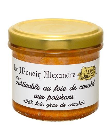 "Tartinable au Foie de Canard aux Poivrons ""25% Foie Gras de Canard"""