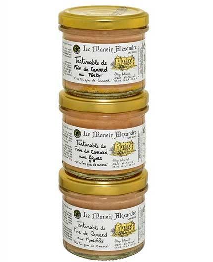 """""""AUTHENTIQUE"""" Lot de 3 Bocaux de Tartinables au Foie de Canard"""