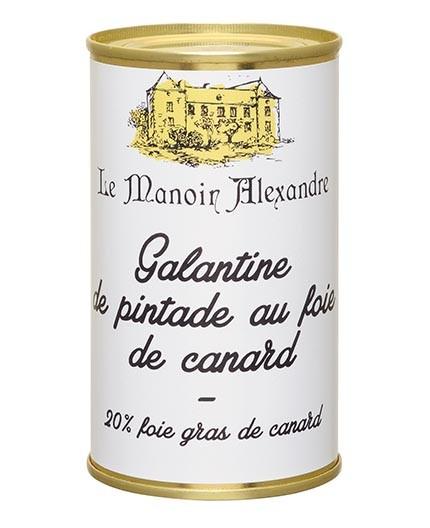 Galantine de pintade au foie de canard 20% foie gras de canard