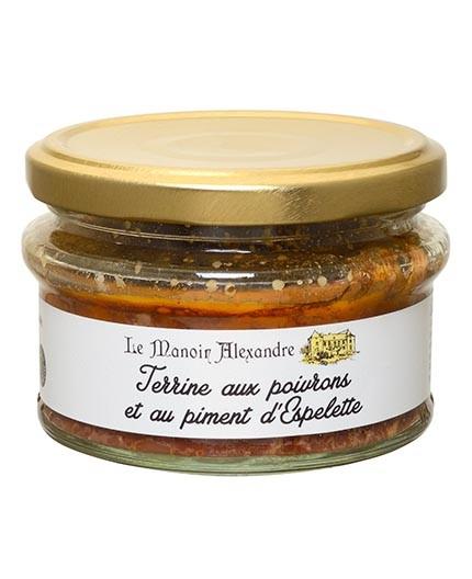 Terrine aux poivrons et piment d'Espelette