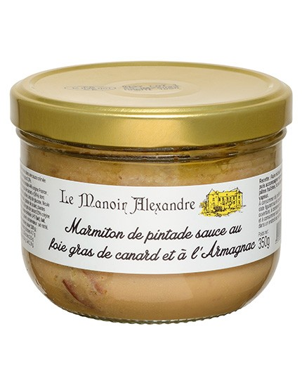 Marmiton de pintade sauce au foie gras de canard et à l'Armagnac
